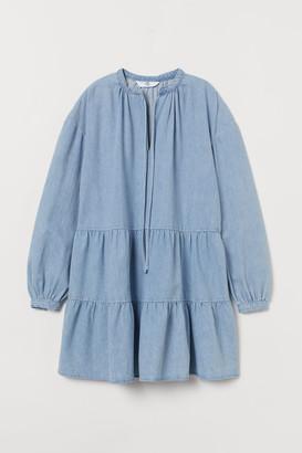 H&M A-line Denim Dress - Blue