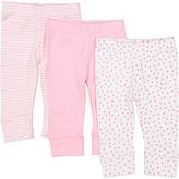 SpaSilk Pink Dot Three-Piece Pants Set - Infant