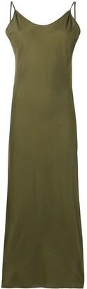 Andrea Ya'aqov Side-Slit Long Slip Dress
