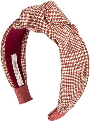 Jennifer Behr Knot-Detail Checked Headband