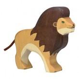 Holztiger Wooden Lion Figurine