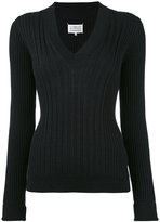Maison Margiela fitted knitted sweater - women - Wool - S