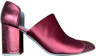 Miista Burgundy Leather Heels