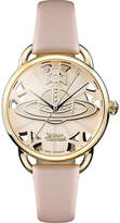 Vivienne Westwood VV163BGPK Leadenhall genuine leather strap watch