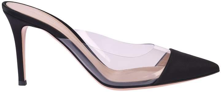 Gianvito Rossi Black Sandals With Plexiglass Insert
