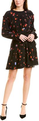 Jason Wu Floral Silk A-Line Dress
