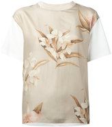 Moncler floral print T-shirt - women - Silk/Cotton - S