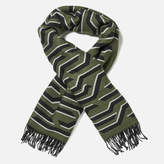 Kenzo Women's Geotiger Wool Scarf Dark Khaki