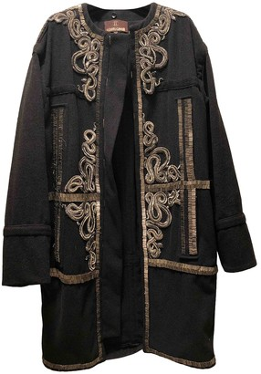 Roberto Cavalli Black Cashmere Coat for Women