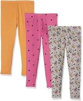 Mothercare Baby Girls' Retro-3 Pack leggings