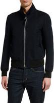 Tom Ford Men's Solid Cotton-Silk Blouson Jacket