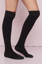 Garage Shiny Over-The-Knee Socks