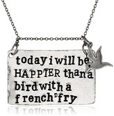 """Alisa Michelle Back To Basics"""" Silver-Tone Stamped Charm Chain Necklace, 18"""""""