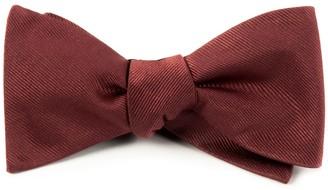 Tie Bar Grosgrain Solid Marsala Bow Tie