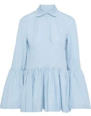 Derek Lam Gathered Cotton-poplin Peplum Shirt
