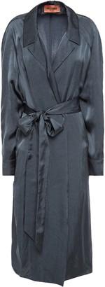 Missoni Tie-front Satin Trench Coat