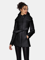Thumbnail for your product : Dawn Levy Morgan Modern Jewel Circle-Quilted Coat with Set-In Hooded Bib