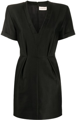 Alexandre Vauthier Padded-Shoulder Mini Dress