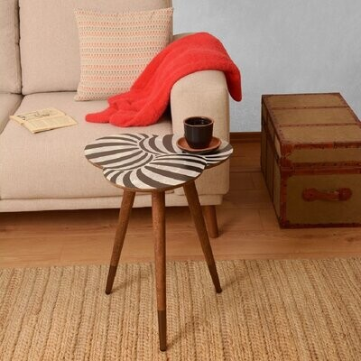 """Thumbnail for your product : World Menagerie Oblak """"Geometric"""" Print Wooden End Table"""