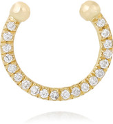 Ileana Makri Thread 18-karat Gold Diamond Nose Ring - one size