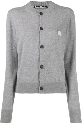 Acne Studios Round Neck Knitted Cardigan