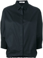 Jil Sander elasticated back hem shirt