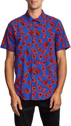 RVCA Peace Poppy Short Sleeve Button-Up Shirt