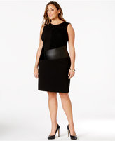 Calvin Klein Plus Size Mixed Media Sheath Dress