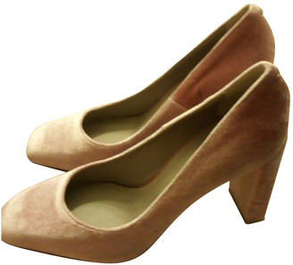 AEYDĒ Pink Velvet Heels