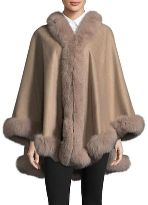 Belle Fare Dyed Fox Fur Cape