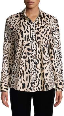 ATM Anthony Thomas Melillo Leopard-Print Cotton Shirt