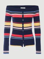 Frame Stripe Shoulder Sweater