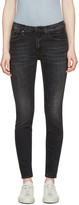 R 13 Black High Rise Jeans