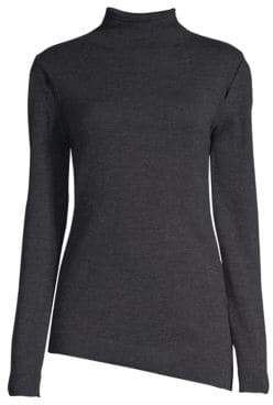 Elie Tahari Marcella Shoulder Detail Turtleneck Sweater