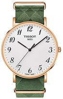 Tissot T1096103803200 Everytime Fabric Strap Watch, Green/white