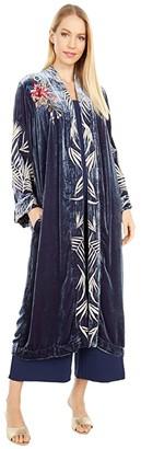 Johnny Was Kasumi Velvet Kimono Coat (Ruby Shade) Women's Clothing