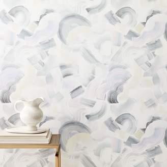 west elm Wave Brushstrokes Wallpaper