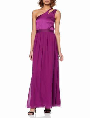 Little Mistress Women's Nikki Mulberry One-Shoulder Maxi Dress Party Purple 001 (Size:10)