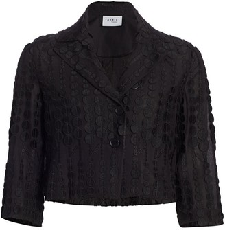 Akris Punto Dot Embroidered Cropped Jacket