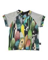 Molo Eton Surfboard Jersey Tee, Gray/Multicolor, Size 12-24 Months