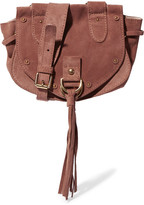 See by Chloe Collins Small Suede And Textured-leather Shoulder Bag - Brick