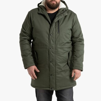 La Redoute Collections Plus Cotton Hooded Parka with Pockets and Faux Sheepskin Lining