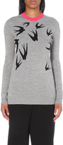 McQ by Alexander McQueen Swallow-intarsia wool jumper