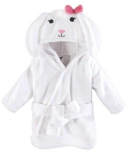 Hudson Baby Soft Plush Baby Bathrobe, Bunny, 0-9 Months