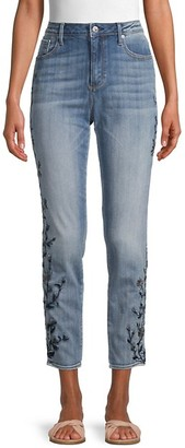 Driftwood Jackie Skinny-Fit Embroidered Jeans