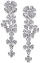 INC International Concepts Silver-Tone Pavé Floral Drop Earrings, Only at Macy's