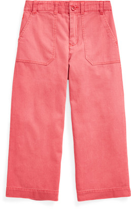 Ralph Lauren Cropped Cotton Chino Trousers