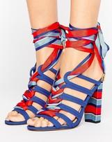 Asos TERESINA Tie Leg Heeled Sandals