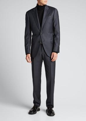 Emporio Armani Men's Plaid Wool Two-Piece Suit