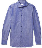 Boglioli Slim-Fit Slub Cotton And Linen-Blend Shirt